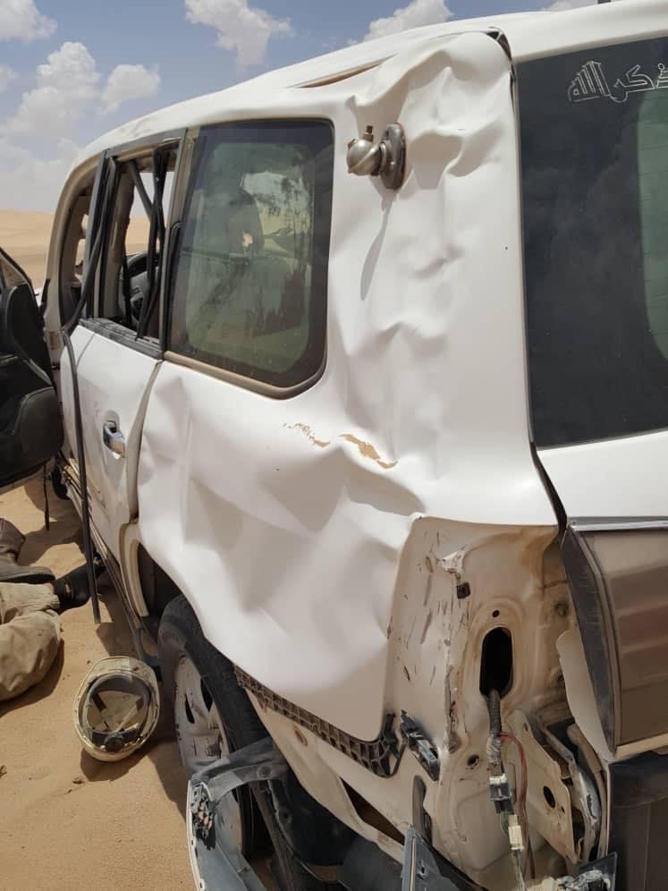 حادث مروري يودي بحياة اثنين من موظفي شركة صافر