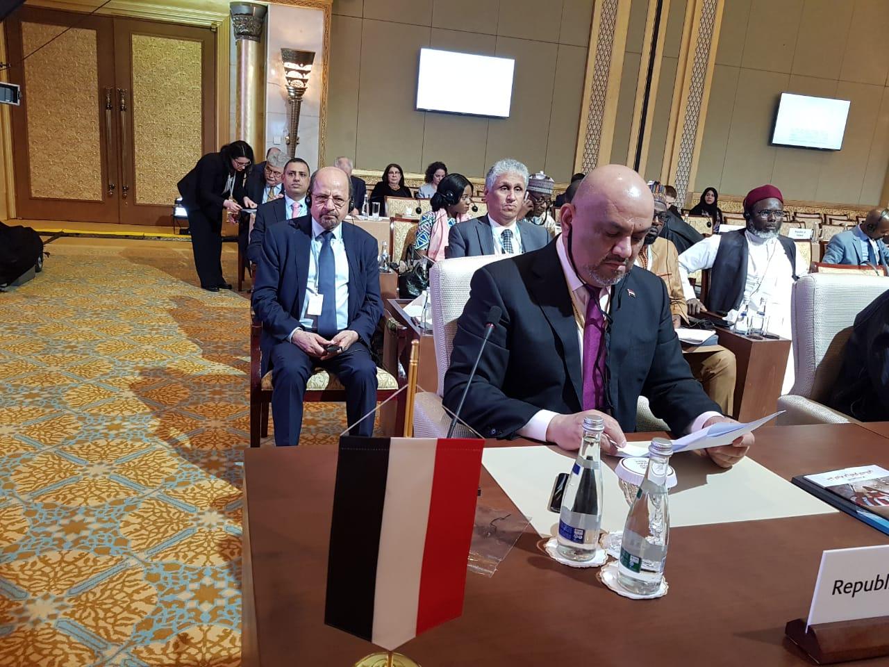 اليماني يدعو إيران للتوقف عن دعم الحوثيين ويحذر من الفشل في تنفيذ اتفاق الحديدة