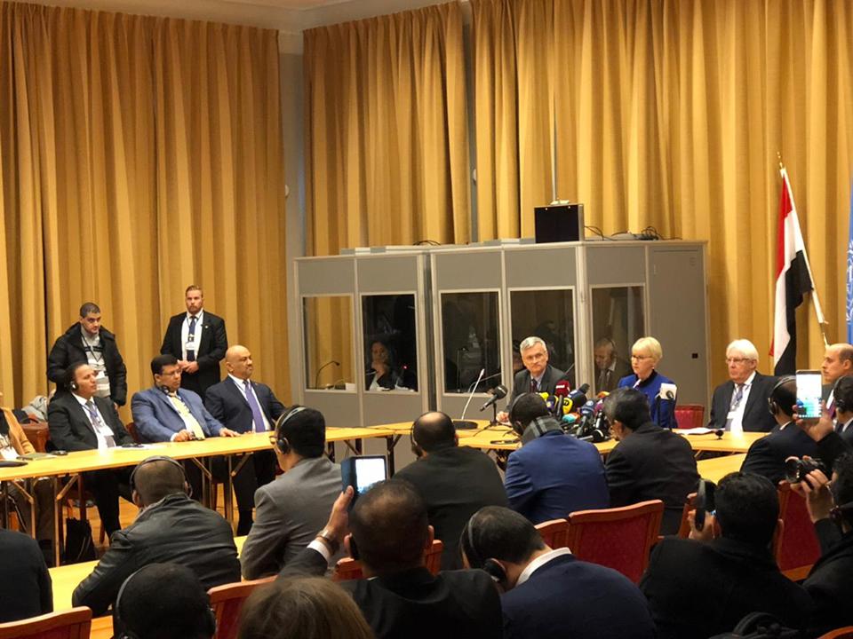 الوفد الحكومي يطالب بانسحاب كامل للحوثيين من الحديدة