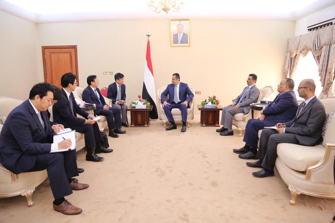 رئيس الوزراء يبحث في العاصمة عدن التعاون مع شركة هونداء الكورية