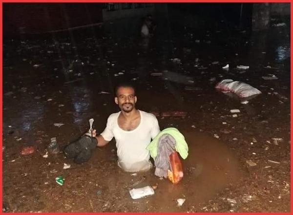تضرر أكثر من 3 آلاف أسرة جراء سيول الأمطار في عدن ولحج