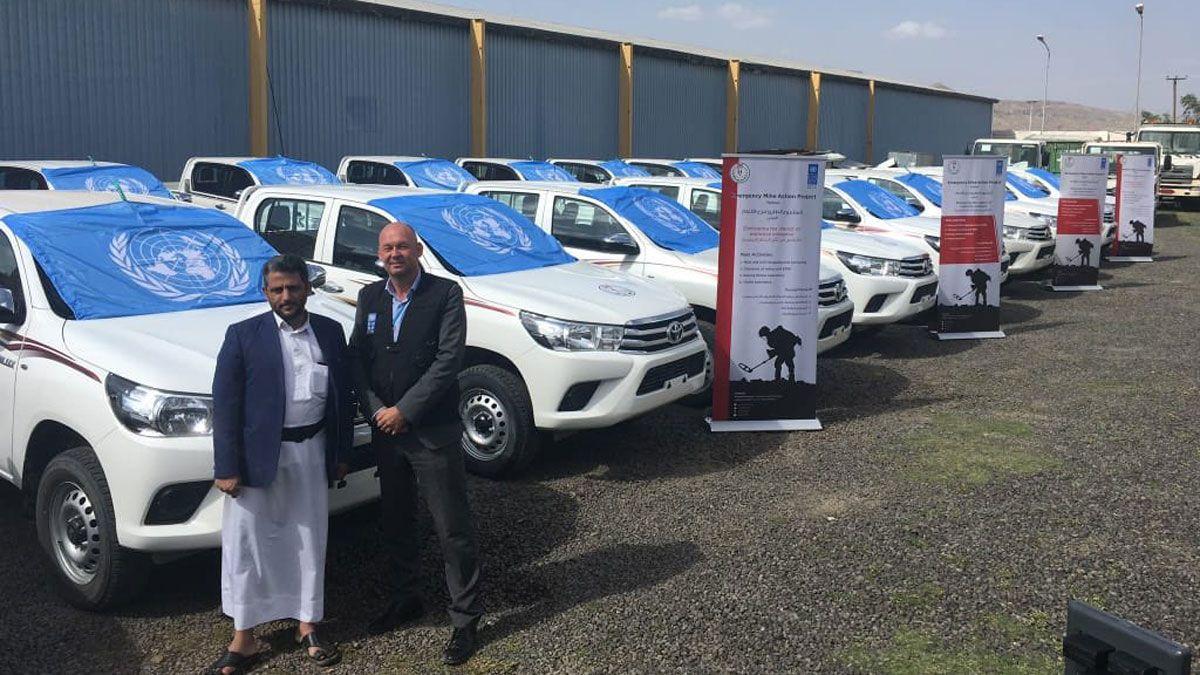 التحالف يطالب الأمم المتحدة بتفسيرات حول منح الحوثيين سيارات دفع رباعي