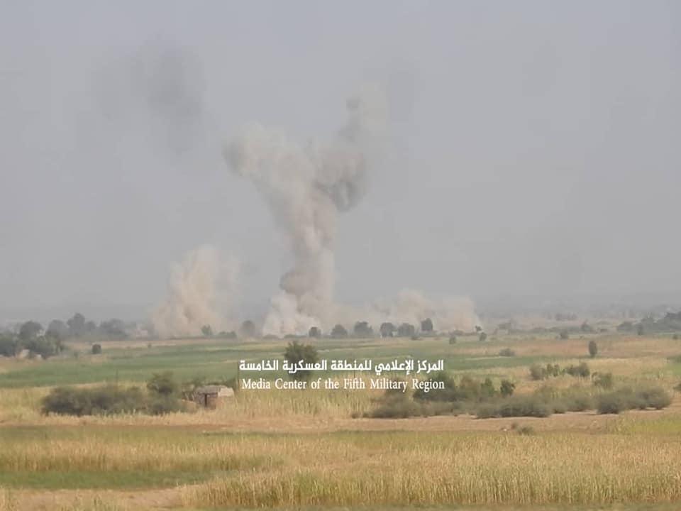 قتلى وجرحى من الحوثيين بغارات جوية بمحافظة حجة