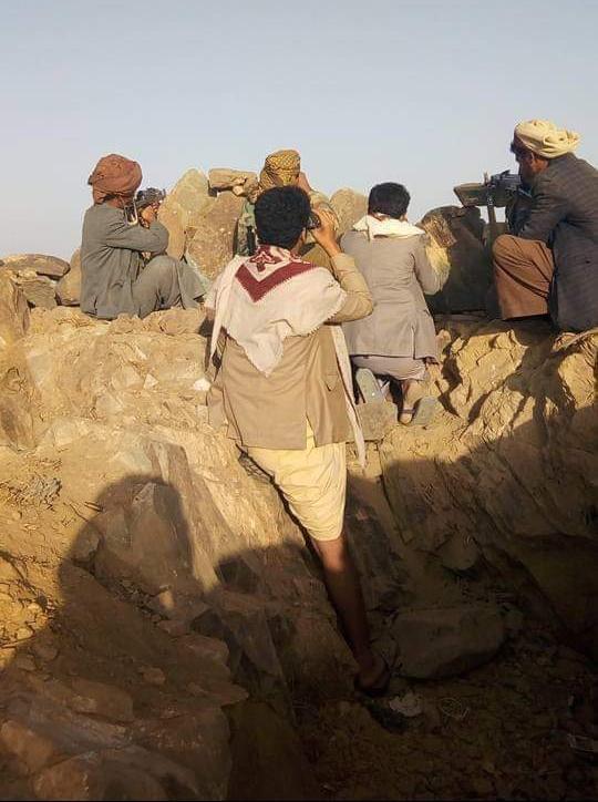 بالفيديو.. شاهد أبطال حجور بعد تصديهم لهجوم شنه الحوثيون جنوب كشر