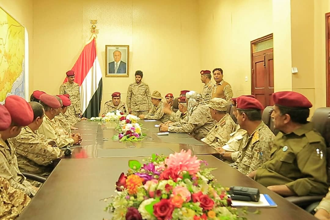 اجتماع عسكري هام لمناقشة تطورات العمليات العسكرية في مختلف الجبهات (تفاصيل)